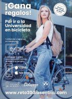 Cartel del reto 30 días en bici de la UBU. Premios