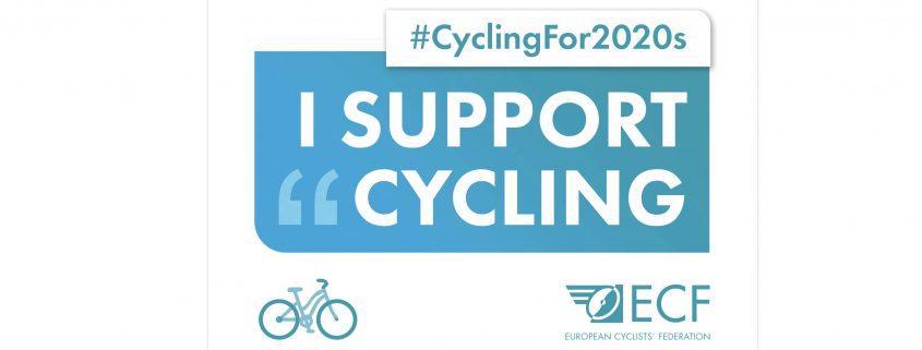 I support cycling. HYo apoyo la movilidad ciclista