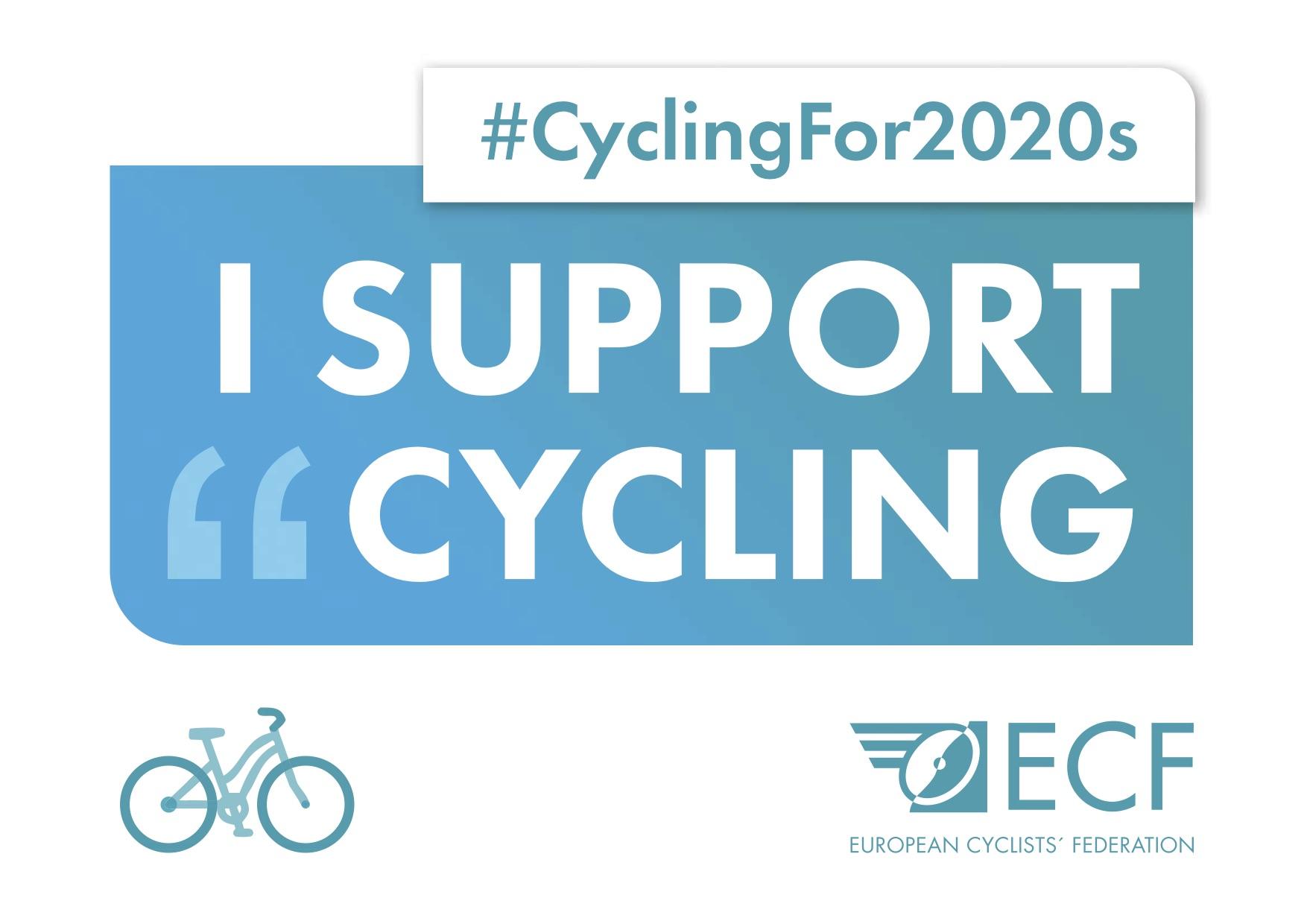 Cartel de la campaña yo apoyo la movilidad ciclista