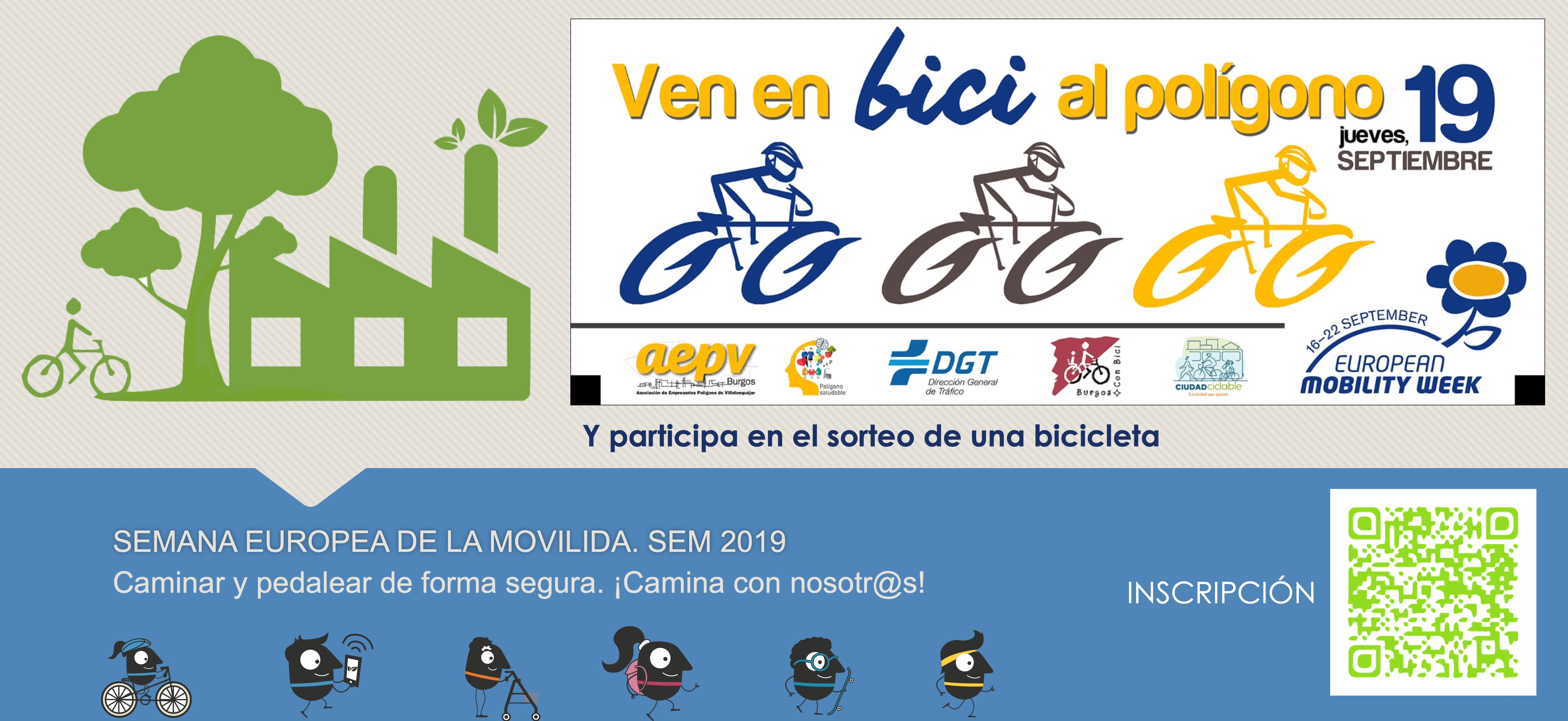 Jueves 19 de septiembre de 2019. Participa en el concurso de una bicicleta.