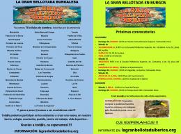 Células (grupos de siembra) y citas para sembrar bellotas en la provincia de burgos