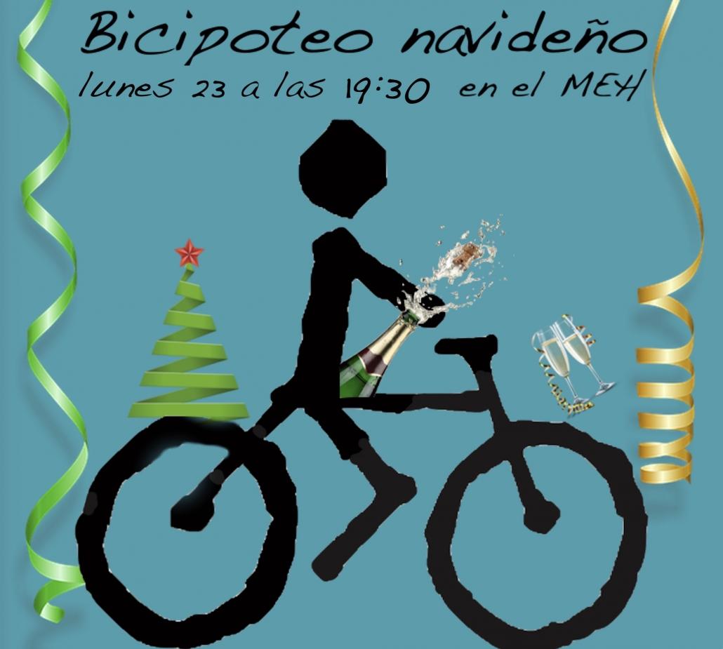 Logo de Burgos Con Bici con adornos de Navidad
