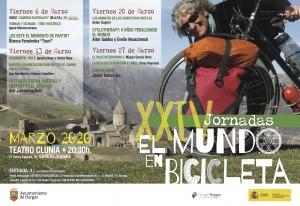 Viajes en bicicleta. Todos los viernes del mes de marzo en el teatro clunia a las 20:30