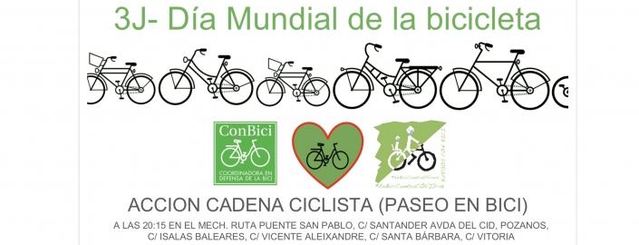 Cadena ciclista (paseo en bici) día mundial de la bici 3 de junio a las 20:30. en MEH