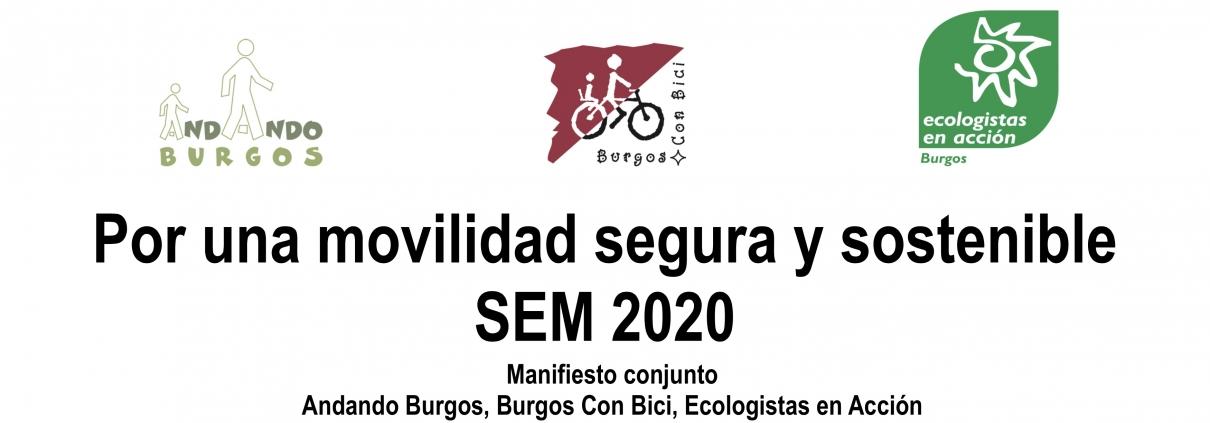 Manifiesto Conjunto, Andadlo Burgos, BCB y Ecologistas en acción