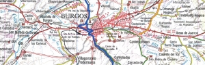 Plano de la Vía Verde S-M a su paso por el municipio de Burgos