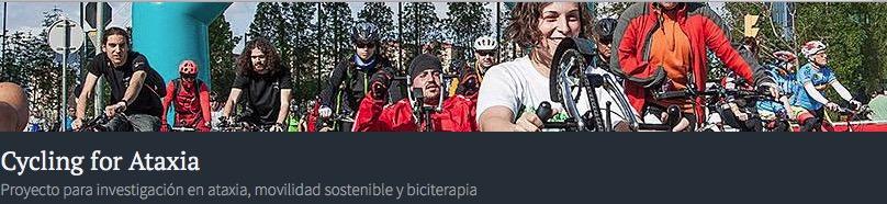 Imagen de cabecera de la web Cycling for Ataxia