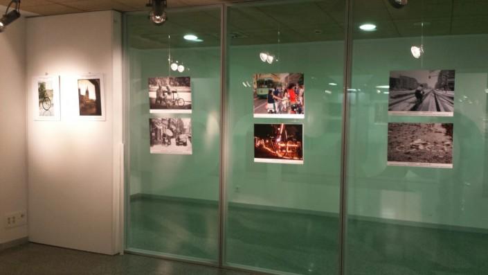 Muestra de la exposición de fotos bici HUBU