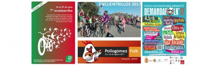 Banners de Ecomarcha, encuentrillos, demanda Folk y pollogomezFolk
