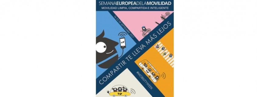 Semana Europea de la Movilidad 2017. Movilidad limpia, compartida e inteligente. Compartir te lleva más lejos