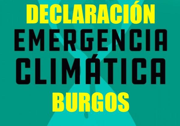 Declaración de emergencia climática Burgos