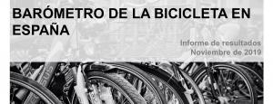 Portada del barómetro de la bicicleta 2019