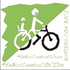 Logotipo de BurgosConBici con mensaje contra covid 19
