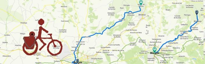 Rutas sobre mapa Burgos - Aguilar de Bureba -Burgos