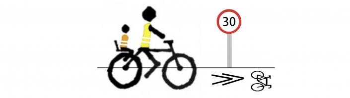 Logo bcb. Ciclista por ciclocalle