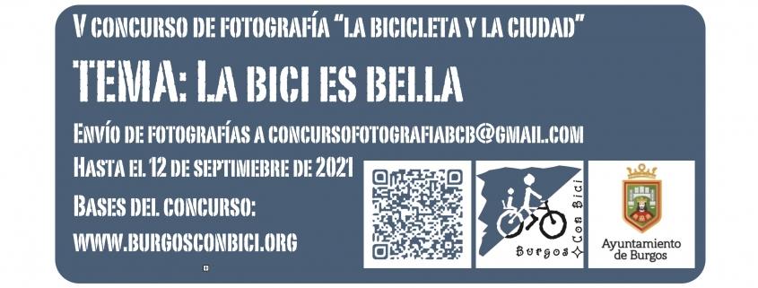 V Concurso de fotografía la bicicleta y la ciudad. Tema: La bici es bella