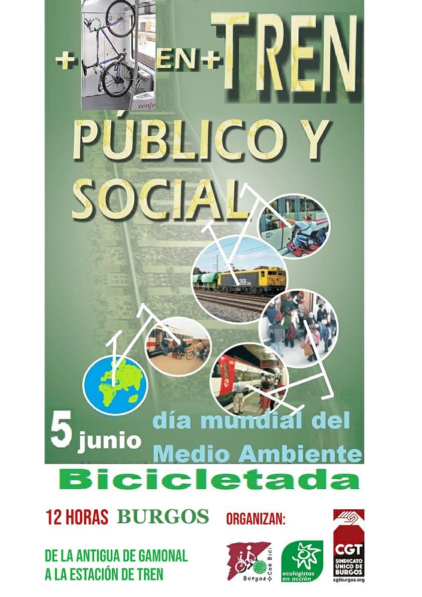 Bicicletas, dais 5 de junio de 2021. Desde la Antigua de Gamonal. Burgos